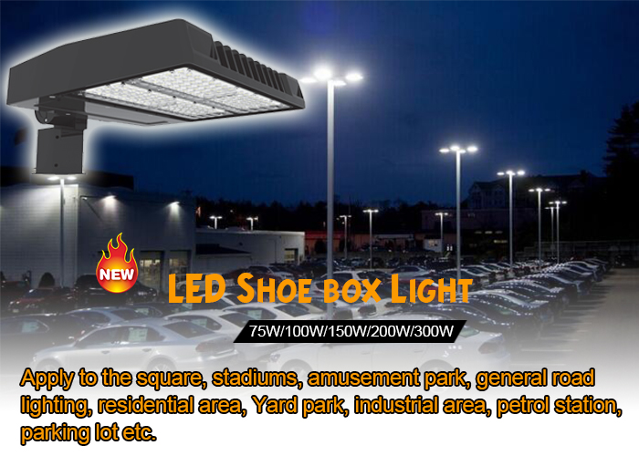 100W Led Shoebox Street Commercial Outdoor Lighting