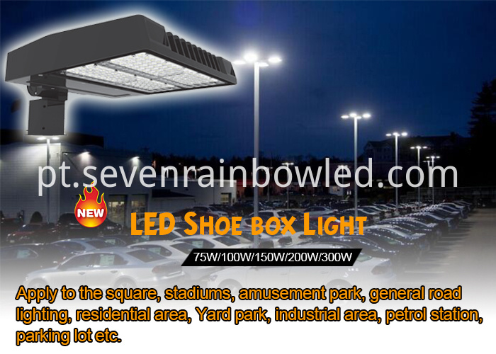200W Led Shoebox Light For Tennis Court