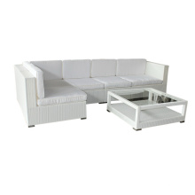 Garden Furniture White PE Rattan Sofa Set