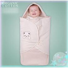 Saco de dormir de algodón orgánico natural con diseño envolvente
