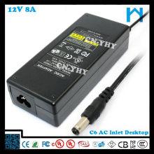 Адаптер 110v до 220v 12v 8A 96w UL, указанный источник питания lcd tv 12v