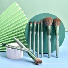 Custom Logo Premium Synthetic Mint Green Makeup Brushes Wholesale Pink 9 Personalized Makeup Brush Set