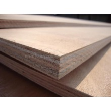 Veneer faced commercial plywood