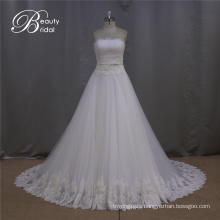 New Sweetheart Beading Long Train Wedding Dress Patterns