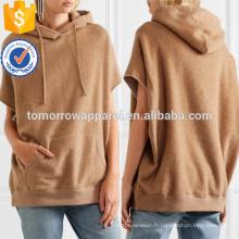 Chameau coton et mélange de chameau à capuchon haut OEM / ODM fabrication en gros de mode femmes vêtements (TA7029H)