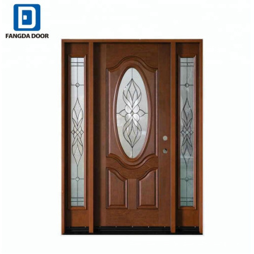 Puerta oval Fangda con prehung del panel de luz lateral