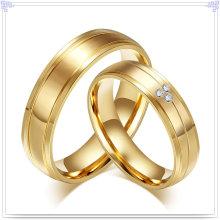 Bijoux fantaisie en acier inoxydable Couple Anneaux (SR592)