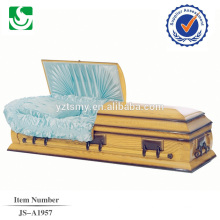 Chinese produced welcome American style wood high quality casket