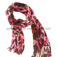 Promoción Invierno cálido tejido punto polar impreso señora bufanda