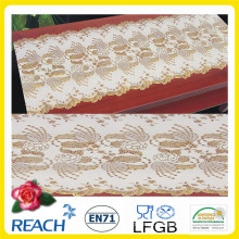 Baratos por atacado 50 cm de largura Crochet PVC Long Lace Toalha De Mesa