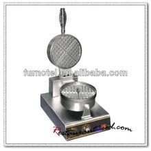 K499 1 cabeza Rotary eléctrica acero inoxidable Waffle Maker