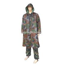 Plastic Long Military PVC Raincoats For Men