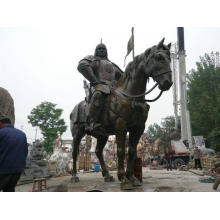 Landscape Large Size Roman Solider Riding Horse Statue for Park