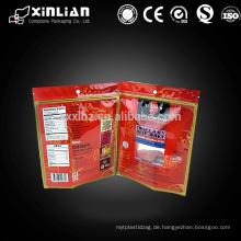 Benutzerdefinierte Druck Rindfleisch ruckartige Verpackung Taschen mit Hang Loch