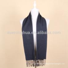 lenço de lã de lã azul profundo para homem