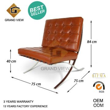Similicuir designer Mobilier bureau chaise Barcelone (GV-BC01)