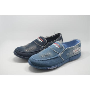 No MOQ Washed Denim Casual Men Adult Injection Shoes