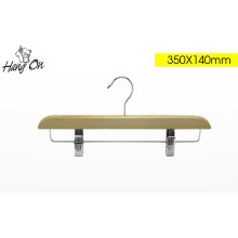 Flat Clip Adjustable Wooden Trousers Hanger (TPL012B)