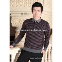 Pull classique en tricot cachemire pour hommes