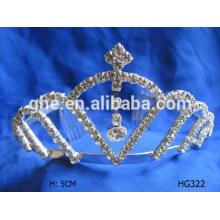 Mais recente design coroa pente rosa pageant tiaras venda coroa sunglass tiara atacado