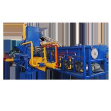 Machines horizontales de fabrication de briquettes de tournages de copeaux d'acier