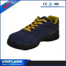 Ufb056 de zapatos de gamuza azul cuero deportes seguridad