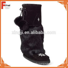 Top quality real rabbit fur cuff for boot