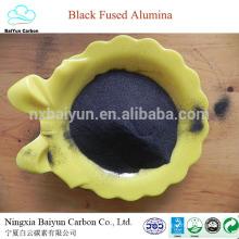 Precio de óxido de aluminio negro abrasivo al 85% para pulir y arenar el corindón negro