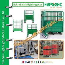 folding foldable transport roll cart/pallet trolley