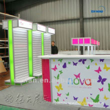 portable slatwall trade show exhibition display custom for exhibition system