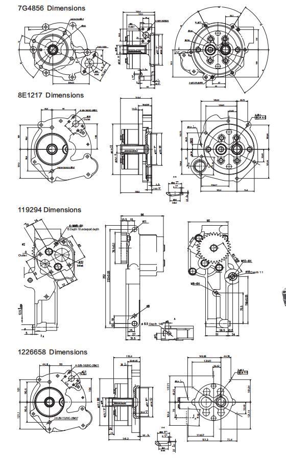 Cat pumps Dimensions-6