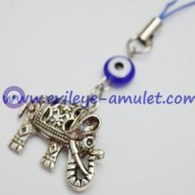 Three-dimensional Carved Elephant Evil Eye Cell Phone Charm