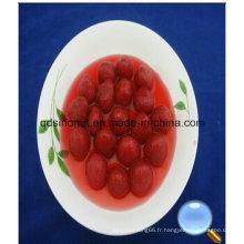 425g de fraises en conserve au sirop