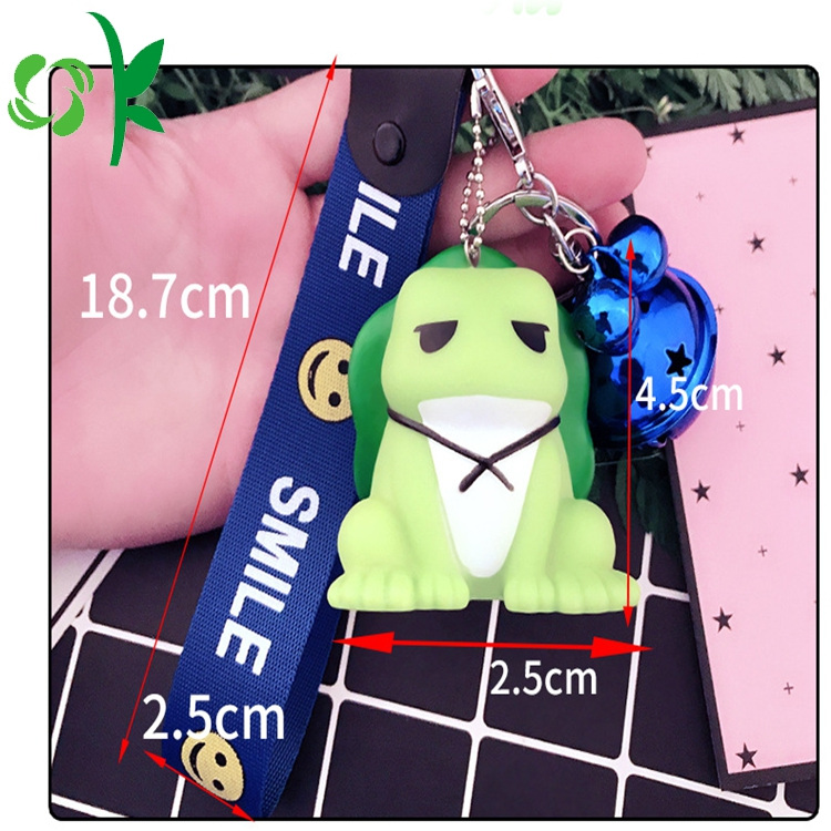 silicone keychain small frog