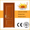 Hecho en la puerta principal interior de madera sólida de China (SC-W121)
