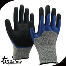SRSAFETY Cut-5 рабочая нитриловая перчатка с 2-слойной перчаткой для покрытия, перчатка с антирежущей кромкой