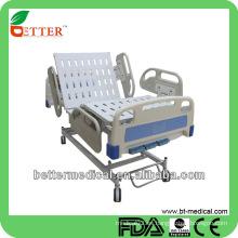 Cama de hospital manual de 3 funciones con cama de hospital del campo de los carriles de los PP