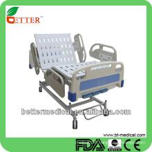 3-fonctionnel Lit d'hôpital avec rails latéraux PP lit d'hôpital sur le terrain