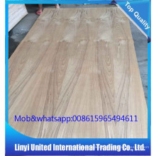 natural teak veneered plywood