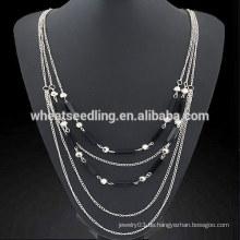 Kristall einfache mehrschichtige Pullover Kette Fee Schwanz Halskette