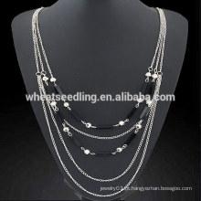 Cristal simples camadas multicamadas cadeia colar fada cauda