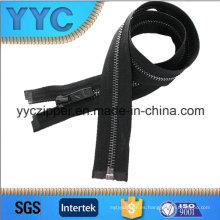 Yyc 5 # Black Gun dientes de color latón cremallera para chaqueta