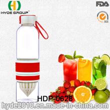 Botella de agua popular de la infusión de la fruta del vidrio de 600ml BPA (HDP-0628)