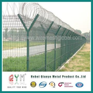 Vedação de aeroporto galvanizada e revestida de PVC