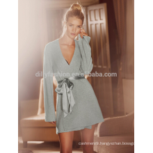 Super soft 100% cashmere knitted women sleepwear
