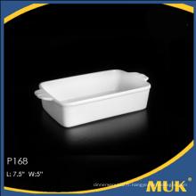 Stock de qualité en gros de petites plaques de céramique blanc pour l'hôtel