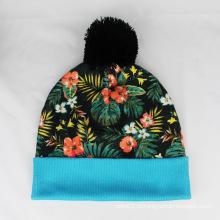 Floral Impressão Beanie Chapéus Padrão De Flores