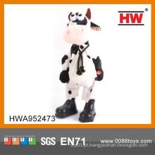 Venda quente B / O animal de pelúcia 38CM Cry Musical Brinquedo Vaca dançando
