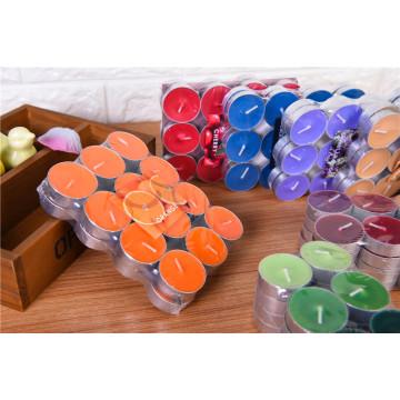 Preço barato colorido perfumado vela Tealight