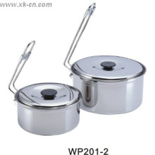 New Design Stainless Steel Cook Ware Camping Cooking Pot